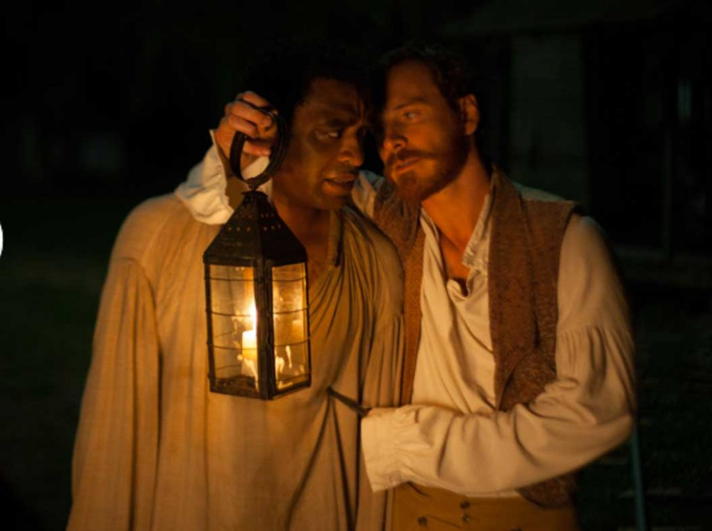 Solomon Northup attempts to survive direct questioning by the cruel Epps.