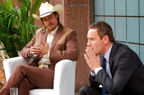 Brad Pitt and Michael Fassbender in Ridley Scott's The Counselor.