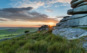 Bodmin Moor at sunset.