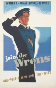 By mid-war, unmarried females were expected to do their bit by joining a home front service. The Women's Royal Navy Service was meant to free up men for combat by placing women in shore-based duties.