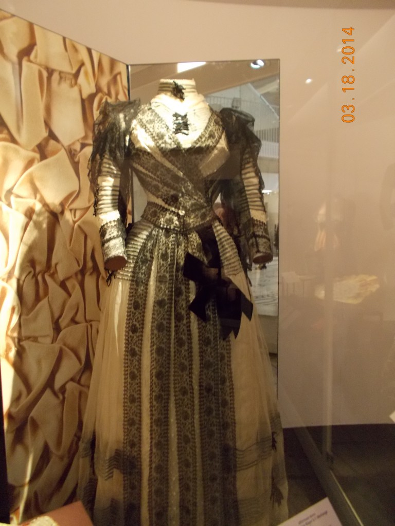 Here's a lovely old gown.