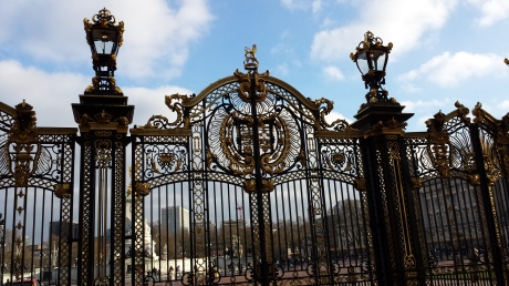 Buckingham Palace gates.