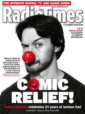 James McAvoy for red Nose Day.